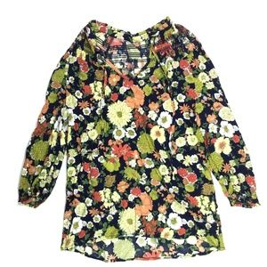 Anthropologie Odille Women's Peasant Blouse 0